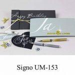 Faber-Castell 146895 Signo Stylo roller Uni-Ball UM-153, pointe: 0,6mm Blanc de la marque Faber-Castell image 1 produit