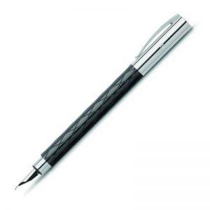 Faber-Castell 148920 Stylo plume AMBITION, largeur de trait M (Noir/losanges) de la marque Faber-Castell image 0 produit