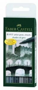 Faber-Castell 167104 Feutre PITT artist pen nuances gris étui de 6 de la marque Faber-Castell image 0 produit