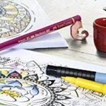 Faber-Castell 167116 Feutre PITT artist pen noir étui de 6 XS/S/F/M/B/C de la marque Faber-Castell image 3 produit