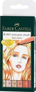 Faber-Castell 167162 Feutre PITT artist pen couleurs de chair étui de 6 de la marque Faber-Castell image 0 produit