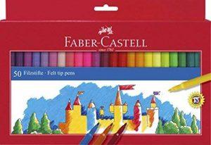 Faber-Castell 554250 Boîte de 50feutres Multicolore de la marque Faber-Castell image 0 produit
