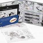 """FABER-CASTELL Kit """"Manga"""" PITT Artist débutant 8 pieces Stylo/Crayon/Modèle/Bloc de la marque Faber-Castell image 1 produit"""