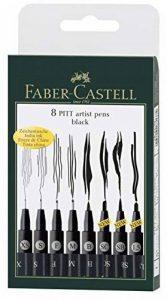 Faber Castell Pitt artiste Stylo Brosse 167107 Inde – Manga Pack de 8 de la marque Faber-Castell image 0 produit