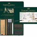 Faber-Castell Pitt Monochrome Crayons et craies d'artistes avec accessoires 33pièces de la marque Faber-Castell image 1 produit