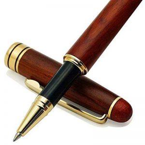 fabriqué à la main en palissandre Stylo bille/stylo plume calligraphie cadeau élégant Fine de Luxe pour Signature Executive Business Ballpoint Pen de la marque ZDTech image 0 produit