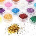 Faburo 24 PCS Paillette Beaux Acrylique de Poudre de Scintillement pour l'art d'ongle conception, décoration Glitter Powder Dust (5g Jar) de la marque Faburo image 2 produit