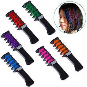 Faburo 6PCS Craie de Couleur de Cheveux instantanée à usage unique Peignes Applicateurs De Craie + Gants rejetables + tour de cou de la marque Faburo image 0 produit