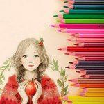 feelily 48pièces Qualité Artiste Aquarelle soluble dans l'eau de haute qualité Crayons de couleur avec Pot à crayons sans gomme, taille-crayon, & pinceau Estompeur de la marque Feelily image 1 produit