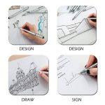 Feutres à Pointes Fines Ezigoo pour Croquis, Dessin Industriel, Design - Feutres à Encre Noire, Pointes Variées, Pack de 10 de la marque Ezigoo image 2 produit