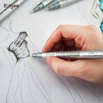 Feutres à Pointes Fines Ezigoo pour Croquis, Dessin Industriel, Design - Feutres à Encre Noire, Pointes Variées, Pack de 10 de la marque Ezigoo image 3 produit