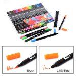 Feutres-stylos de couleur à double pointe - 24couleurs de la marque qianshan image 3 produit