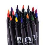Feutres-stylos de couleur à double pointe - 24couleurs de la marque qianshan image 4 produit