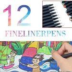 Fineliner de bille de couleur, 0,4 mm Fineliner feutres de coloriage,fine Liner Sketch Drawing Pen pour les enfants et les adultes (Lot de 12) de la marque ALLESCOOL image 4 produit