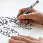 Fineliner Stylos, Set de 18 stylos à encre noire Finition Stylo Micro-Pen Fineliner, pinceau et pointe de calligraphie pour le dessin, Illustration de l'artiste, Documents de bureau, Scrapbooking, Dessin technique - Encre pigmentaire, Waterprooof, Fade Pr image 3 produit