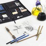 FIXKIT 40 Pcs Crayons de Dessin Crayons de Croquis Kit de Croquis Crayons Ensemble Professionnel Esquisse Crayon Dessin Crayons de Charbon de la marque Fixkit image 4 produit