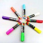 Fluotab® Kit de 8 Marqueurs à craie liquide Fluorescent effaçable/Feutre magique multi-couleurs pour les tableaux/ardoises/Miroir/Verre/Métal- Grand contenu: SATISFAIT OU REMBOURSÉ - 60 JOURS DE GARANTIE-Pointe 6MM de la marque FluoTab® image 2 produit