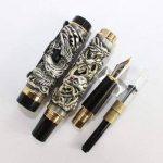 Fountain Pen dragon / Phoenix Loong et bouchon à vis antique d'argent de support de fontaine stylo de la marque Gullor image 4 produit