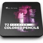 Fournitures scolaires Castle Art Supplies: 72 crayons de couleur pour livres de coloriage, pour adultes ou enfants–Série Premium aux couleurs éclatantes de la marque Castle Art Supplies image 3 produit