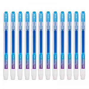 Friction Stylo Effacable 0.7 mm Tip – Pack de 12 Stylo Gomme Bleu Rechargeable - Ezigoo de la marque Ezigoo image 0 produit