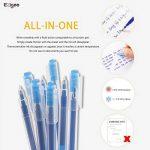 Friction Stylo Effacable 0.7 mm Tip – Pack de 12 Stylo Gomme Bleu Rechargeable - Ezigoo de la marque Ezigoo image 4 produit