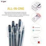 Friction Stylo Effacable 0.7 mm Tip – Pack de 12 Stylo Gomme Noir Rechargeable - Ezigoo de la marque Ezigoo image 4 produit