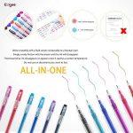 Friction Stylo Effacable 0.7 mm Tip – Pack de 6 Stylo Gomme Rechargeable Couleurs Assorties - Ezigoo de la marque Ezigoo image 4 produit