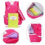 FRISTONE École Sac à dos/3pcs Enfants sac à sac à dos scolaire pour les filles+ Sac d'Épaule+Crayon sacs (Rose rouge) de la marque FRISTONE image 2 produit