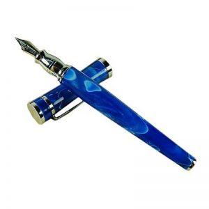 fuliwen Fashion Style Stylo plume Pointe Moyenne Bleu Ondulé en celluloïd de la marque Lanxivi image 0 produit