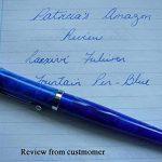 fuliwen Fashion Style Stylo plume Pointe Moyenne Bleu Ondulé en celluloïd de la marque Lanxivi image 1 produit