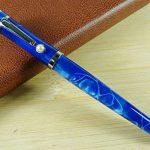 fuliwen Fashion Style Stylo plume Pointe Moyenne Bleu Ondulé en celluloïd de la marque Lanxivi image 4 produit