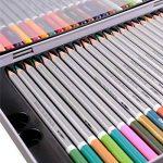 FUNRUI Crayons de Couleur Aquarellable 24 Set Dans Une Boîte En Métal, Colored Pencils Avec Un Pinceau pour Adulte Enfants Étudiants Professionnels Artiste, avec 1 Pinceau (48 pièces) de la marque FUNRUI image 2 produit