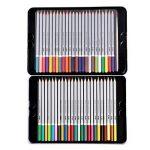 FUNRUI Crayons de Couleur Aquarellable 24 Set Dans Une Boîte En Métal, Colored Pencils Avec Un Pinceau pour Adulte Enfants Étudiants Professionnels Artiste, avec 1 Pinceau (48 pièces) de la marque FUNRUI image 1 produit
