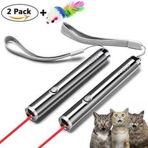 FYNIGO jouet chats jouet interactif pour chat et chien fonction 2 en 1 et souris colorée à plumes(2 racines) de la marque FYNIGO image 0 produit