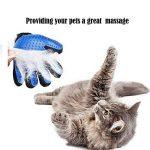 Gant chat, Gant Poil Chat Chien, Gants de toilettage pour animaux de compagnie - Gant de massage pour animaux de compagnie avec conception améliorée de cinq doigts - Parfait pour les chiens et les chats avec de la fourrure longue et courte - Bleu (1Pc à d image 3 produit