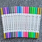 GC Quill Stylos à brosse à double pointe à 100 couleurs avec bordure fine Tip 0.4 PA32 de la marque GC Writing Quill image 2 produit
