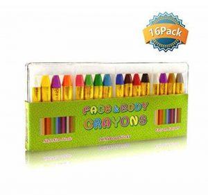GiBot 16 Couleur visage peinture des crayons de visage et de corps sûrs et non-toxiques Crayons Maquillage pour Enfants, Easy on et off de la marque GiBot image 0 produit