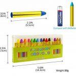 GiBot 16 Couleur visage peinture des crayons de visage et de corps sûrs et non-toxiques Crayons Maquillage pour Enfants, Easy on et off de la marque GiBot image 4 produit