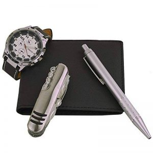 Gift-Desire - coffret cadeau montre Homme avec couteau multifonction, portefeuilles et stylo : CCP-1003 de la marque Gift-Desire image 0 produit