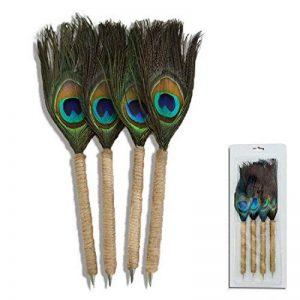 Giftgarden Original Stylo bille - Bleu - Lot de 4, plume de paon – vintage stylo - cadeau créatif de la marque Giftgarden image 0 produit