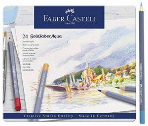 Goldfaber Aqua Crayons d'aquarelle Boîte métal de (lot de 12) Set de 24 pièces dans une boîte métallique de la marque Goldfaber image 0 produit