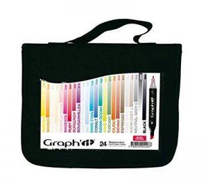 Graph'it Lot de 24 Marqueurs à alcool double pointe Basic colors de la marque GRAPH'IT image 0 produit