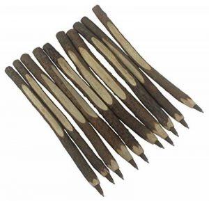 Gullor 10PCS Stylo à bille personnalisé vrai stylo en bois, stylo branche d'arbre, stylo brindille, livre d'or de mariage de la marque Gullor image 0 produit