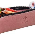 """Gusti Cuir studio """"Addison"""" trousse à crayons en cuir étui à crayons trousse en cuir homme femme cuir de buffle rose 2S8-22-13 de la marque Gusti image 2 produit"""