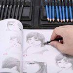 H&B Sketch Pencils Set Kit de dessin d'artistes dans un étui à fermeture à glissière avec un tampon à croquis, tous les accessoires divers et d'art pour votre peinture (48 Piece Advanced Pack). de la marque H&B image 6 produit