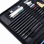 H&B Sketch Pencils Set Kit de dessin d'artistes dans un étui à fermeture à glissière avec un tampon à croquis, tous les accessoires divers et d'art pour votre peinture (48 Piece Advanced Pack). de la marque H&B image 4 produit