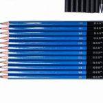 H&B Sketch Pencils Set Kit de dessin d'artistes dans un étui à fermeture à glissière avec un tampon à croquis, tous les accessoires divers et d'art pour votre peinture (48 Piece Advanced Pack). de la marque H&B image 3 produit