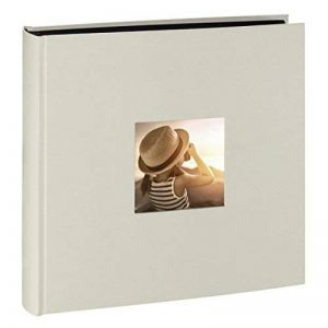 Hama Jumbo album photo Fine Art (30 x 30 cm, 100 pages noires, 50 feuilles, avec découpe pour insertion d'image) craie de la marque Hama image 0 produit