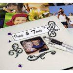 Hama Jumbo album photo Fine Art (30 x 30 cm, 100 pages noires, 50 feuilles, avec découpe pour insertion d'image) craie de la marque Hama image 4 produit