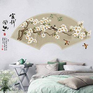 HCCY Encre chinoise de calligraphie chinoise classique sur le mur de la montagne de fleurs décorations de salon ayant la forme d'un boîtier blanc posters autocollants 125*60cm de la marque HCCY STICKER image 0 produit